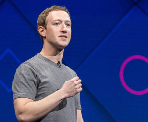 Mark Zuckerberg in una conferenza